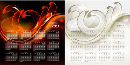 Link to2011 calendar template 01 - vector