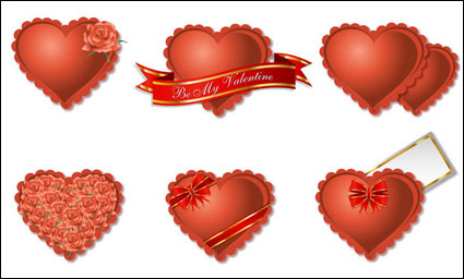 Link toRomantic heart-shaped gift box packaging vector material