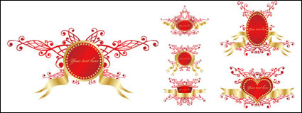 Link toRomantic ribbon vector shield badge