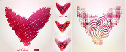 Link toAbstract heart-shaped pattern vector material