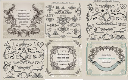 Link toEuropean classic lace pattern vector material