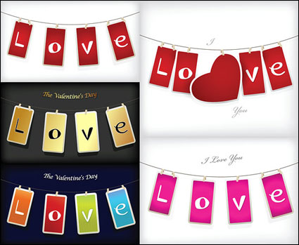 Link toCute valentine's day banner vector material