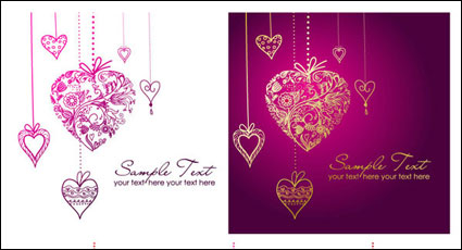 Link toHeart-shaped pendant composed of pattern vector material