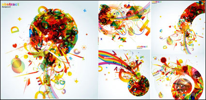 Link toThe trend of colorful graphics - vector