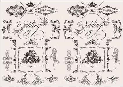 Link toEuropean wedding pattern vector material
