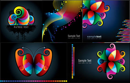 Link toColorful patterns and lines vector material