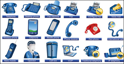 Link toCommunication facilities icons - vector