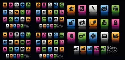 Link toBeautiful and practical web icons - vector material