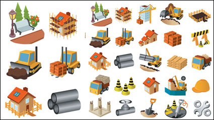 Link toArchitectural theme icon vector material