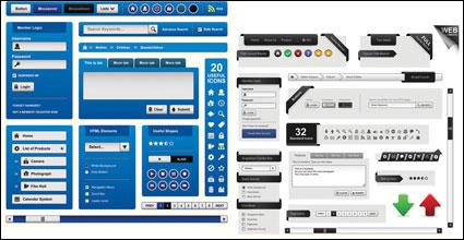 Link toWeb page design elements vector