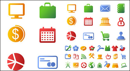 Link to++ color elements vector icons ++