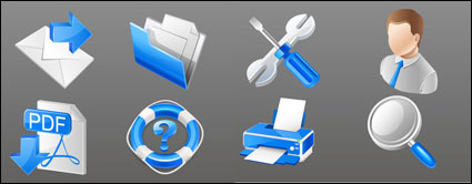 Link toBlue practical business icons - vector material