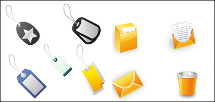 Link toOffice icons and labels - vector