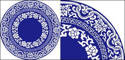 Vector Blue and White Porcelain