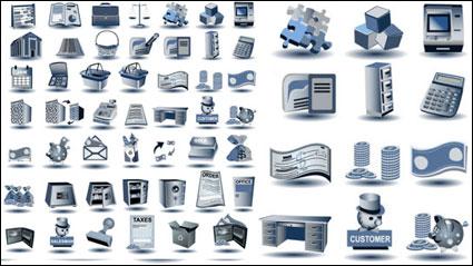 Link toBlue-gray icon - vector