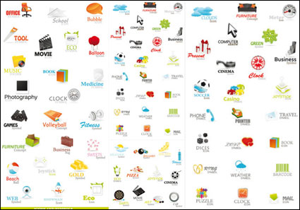 Link toA variety of beautiful icons - vector material