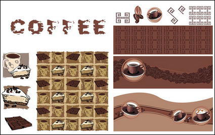 { related coffee} Vector material