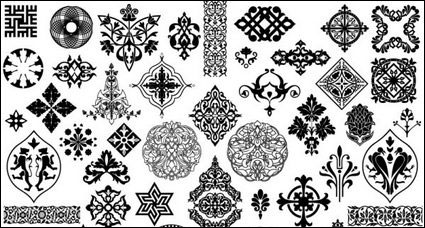 Beautiful classic traditional pattern vector material