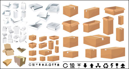 Link toBoxes and cartons templates - vector