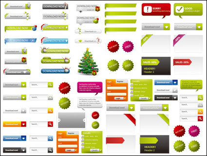 Link toWeb page design elements 02-- vector material