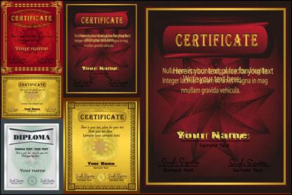 Link toGorgeous european diploma template - vector
