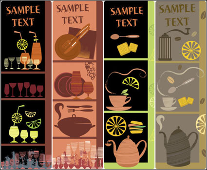 Link toIllustration hand-painted tableware - vector