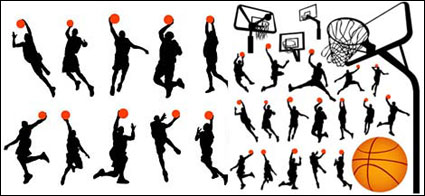 Link toBasketball and backboard vector material in profile