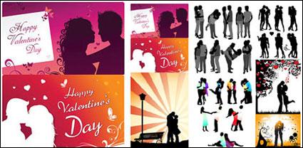 Link toRomantic lover silhouette vector