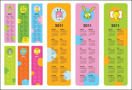 Link toVery cute 2011 calendar vector material