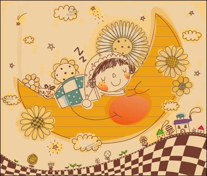 Link toKorean cute family line drawing vector 3