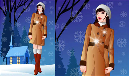 Link toVector winter woman