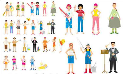 Link to{colorful character}  vector material