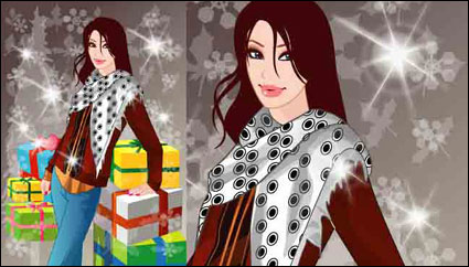 Link toWinter women vector 10