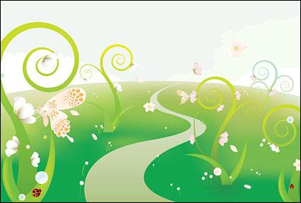 Link toButterfly flowers illustration illustration vector material