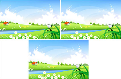 Link toCountryside scenery vector