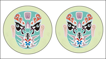 Chinese traditional mask vector