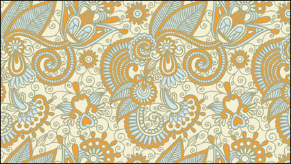 Link toBeautiful hand-painted pattern vector material -2