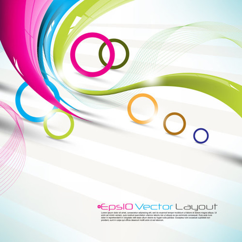 Link toBeautiful colorful background 02-- vector material