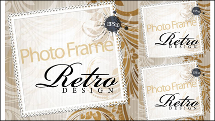 Link toElegant design of the text box decorative shading pattern vector material -3