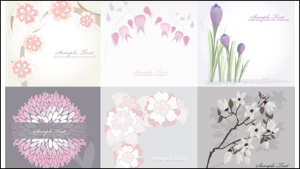 Link toPure flower background - vector material