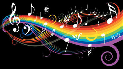 Link toTheme music notes vector material -1