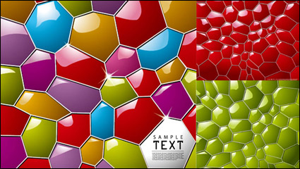 Three-dimensional honeycomb background vector material