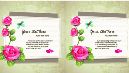 Link toElegant design elements of collage background vector material -2