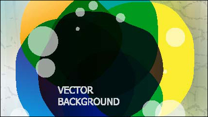 Gorgeous three-dimensional illustration background vector material -3