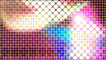Bright mosaic design background vector material -4