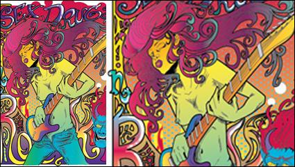 Fantasy rock star posters vector