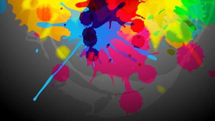 Paint splash background color 01 – vector