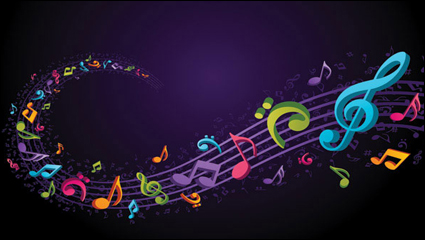 Link toTheme music notes vector material -4
