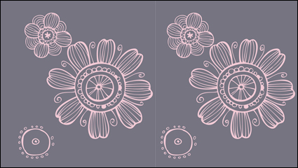 Link toIntensive hand-painted pattern vector material -2