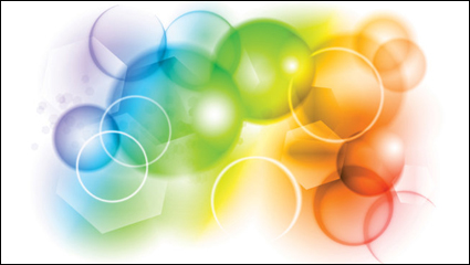 Link toColorful bubbles background - vector material